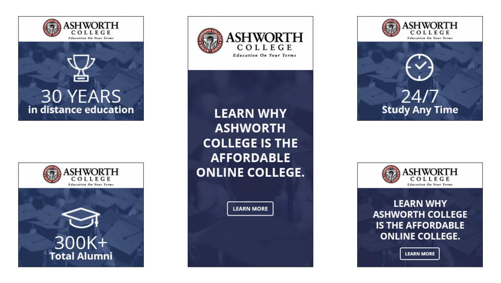 Ashworth College Ads