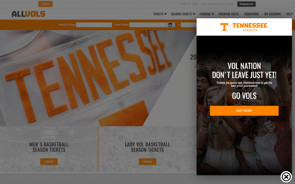 University of Tennessee Onsite Engagement Example