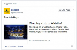 Expedia Retargeting Example