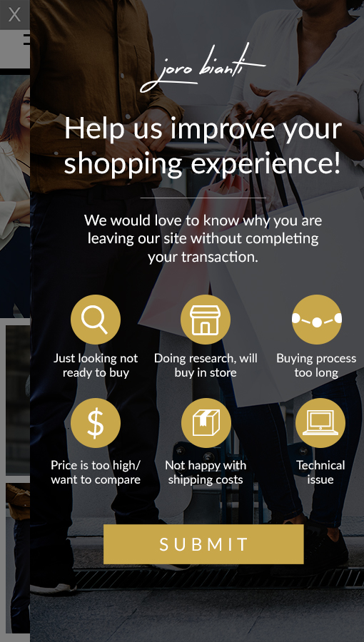 Shopping experience survey