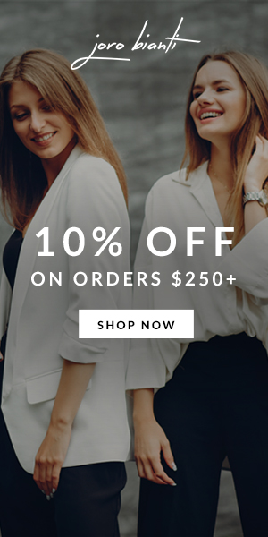 10% Off On Orders $250+ Joro Bianti display ad