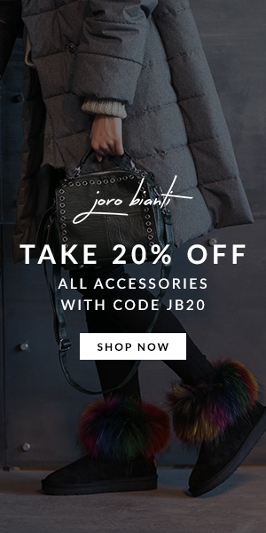 Take 20% off all accessories joro bianti ad