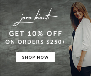 Get 10% Off on Orders $250+ joro bianti ad example