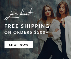 Free shipping on orders $500+ Joro bianti ad example