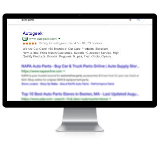 Search engine marketing for Autogeek